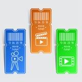 Biljettmall byter ut lätta symboler för bakgrund den genomskinliga vektorn för skugga Arkivfoton