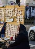 Biljettsäljare av den spanska jullotterit i solenoid Royaltyfri Foto