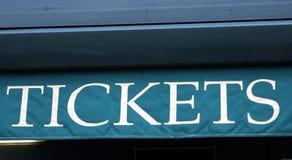 Biljetttecken royaltyfri foto