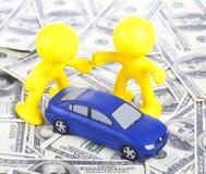 Bilköp och försäljning. royaltyfri bild