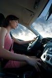 bilkörning Fotografering för Bildbyråer