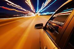 bilkörning snabbt Royaltyfria Bilder