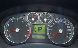 bilkontrollbord Fotografering för Bildbyråer