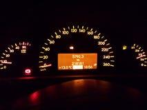 Bilkontrollbord Arkivfoto