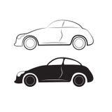 Bilkonturer Vektor Illustrationer