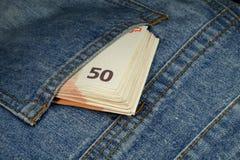 Bill στην τσέπη Στοκ Εικόνες