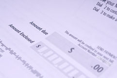 Bill. Concept image of a bill with blank amount for your own debt Stock Photography