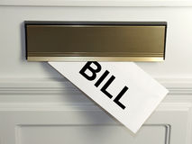 Bill. An unwelcome surprise - a bill arrives in the mail royalty free stock photos