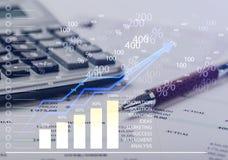 Bill. Bank account bank statement calculator finance business balance Royalty Free Stock Photography