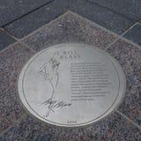 Bill Blass Plaque Royalty-vrije Stock Foto
