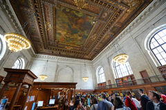 Bill Blass Public Catalog Room, New- Yorköffentliche bibliothek Lizenzfreie Stockfotografie