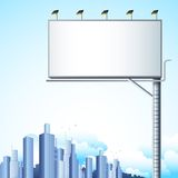 Bill Board in Cityscape Stock Photography