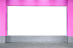 Bill board pink valentine's texture wall, white board, room, tex Stock Photography