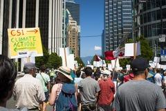 Bill C-51 (Antiterreurakte) Protest in Vancouver Stock Afbeeldingen