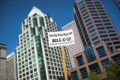 Bill C-51 (Antiterreurakte) Protest in Vancouver Royalty-vrije Stock Afbeelding