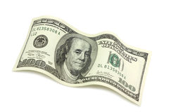 Bill cem dólares Imagens de Stock Royalty Free