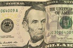 Bill cinco dólares de fundo Fotos de Stock Royalty Free