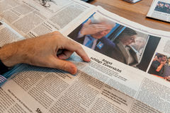 Bill Clinton και Χίλαρι Κλίντον μετά από τις εκλογές στο γερμανικό Τύπο Στοκ Φωτογραφία