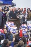 Bill Clinton σε μια συνάθροιση εκστρατείας του Οχάιου Στοκ Φωτογραφία