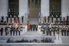 Bill Clinton στο μνημείο του Λίνκολν Στοκ Φωτογραφίες