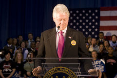 Bill Clinton давая речь президента Стоковое Фото