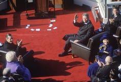 Bill Clinton развевает на дне вступления президента в должность Стоковое фото RF