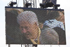 Bill Clinton. Is captured on a Jumbotron while attending the inauguration of Barack Obama Stock Image