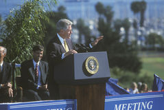 Bill Clinton addresses crowd Royalty Free Stock Photography