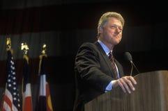 Bill Clinton adresów Denwerski kampanii wiec Zdjęcie Royalty Free