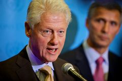 Bill Clinton chez les Nations Unies Photos libres de droits