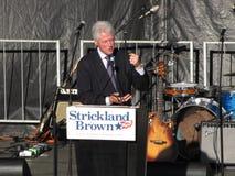 Bill Clinton in Columbus Ohio Rally Stock Foto's