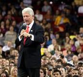Bill Clinton denver som ger anförande Arkivbild