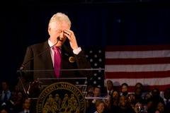 Bill Clinton, der Rede an der Fisk Universität gibt lizenzfreie stockfotos