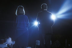 Bill Clinton e esposa Hillary Clinton imagem de stock