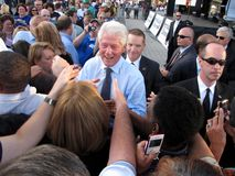 Bill Clinton en Columbus Ohio Rally Foto de archivo