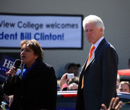 Bill Clinton Facing the Crowd Royalty Free Stock Photography