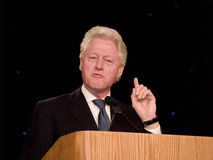 Bill Clinton fala 2 Fotografia de Stock