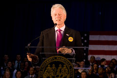 Bill Clinton giving speech at Fisk University Royalty Free Stock Photo