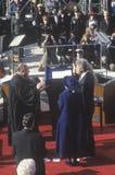 Bill Clinton il giorno di inaugurazione Immagine Stock Libera da Diritti