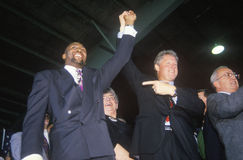 Bill Clinton joins hands with Boxer Tommy Heam Stock Images