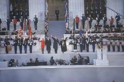 Bill Clinton at Lincoln Memorial Stock Photos