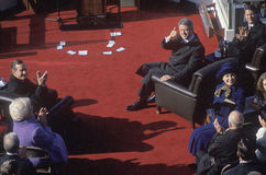 Bill Clinton, 42nd President, gives the thumbs up on Inauguration Day 1993, Washington, DC Stock Photography