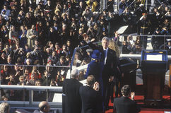 Bill Clinton, 42nd President, waves to the crowd on Inauguration Day January 20, 1993 in Washington, DC Stock Images