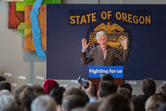 Bill Clinton Stumps for Hillary in Bend, Oregon Stock Photo