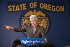 Bill Clinton Stumps for Hillary in Bend, Oregon Stock Images