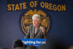 Bill Clinton Stumps for Hillary in Bend, Oregon Stock Photos