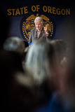 Bill Clinton Stumps for Hillary in Bend, Oregon Stock Image