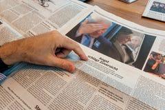 Bill Clinton und Hillary Clinton nach Wahlen in der deutschen Presse Stockfotografie