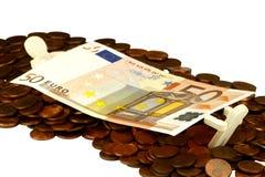 Bill con le monete del centesimo Immagine Stock Libera da Diritti