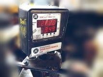 Bill counter. Autorishaw motor bike Stock Photos